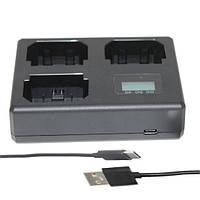 Зарядное устройство Alitek LCD USB для трех аккумуляторов Canon LP-E6 /  LP-E6N