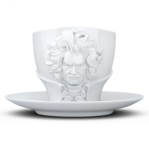 Чашка с блюдцем Tassen Ludwig van Beethoven 260 мл фарфоровая