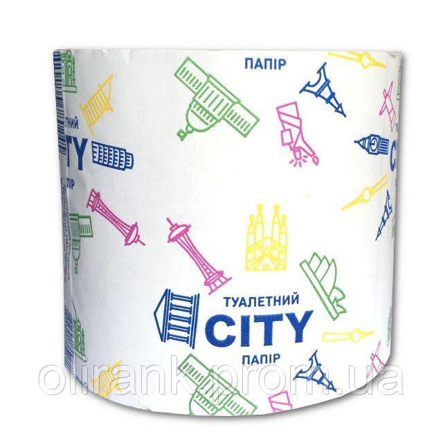"Туалетная бумага ""СИТИ"" макулатурная. в рулоне (48шт в ящ)"