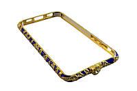 Железный бампер чехол nks1  6 / 4,7 -- золотой, синий, фото 1