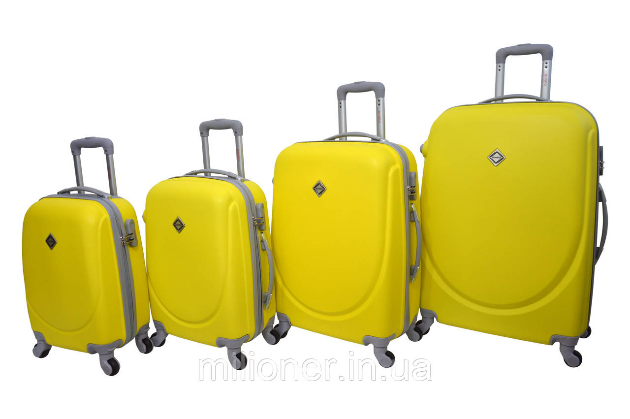 Чемодан Bonro Smile набор 4 шт. желтый
