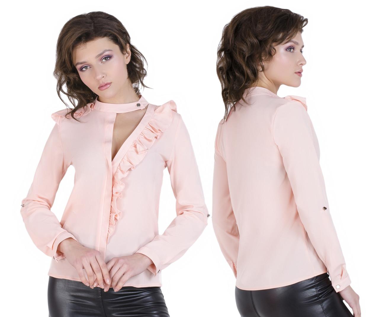 Оригинальная женская блузка 42-50 (в расцветках)