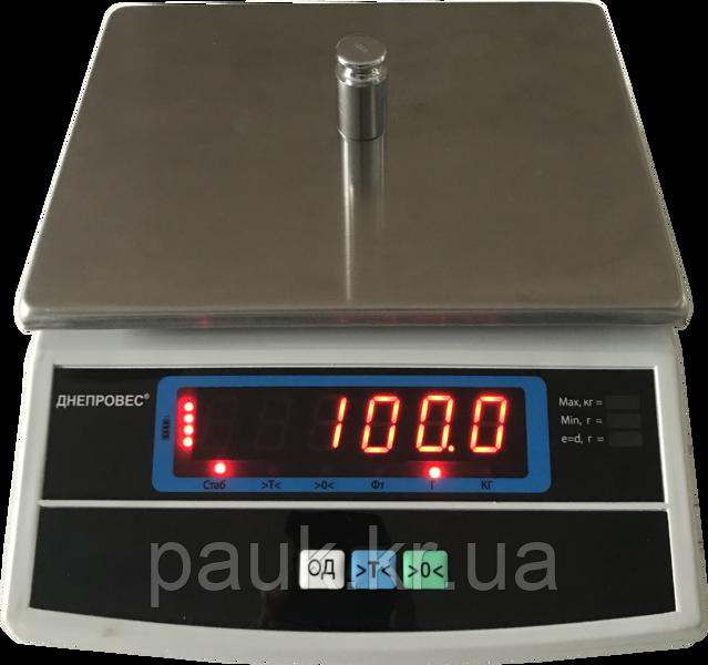 Електронні ваги фасувальні, 6кг ВТД-Т3 із захисним чохлом
