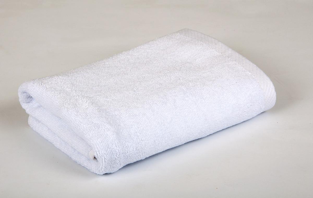 Полотенце махровое 70х140см Белый (20/2) 550гр Lotus