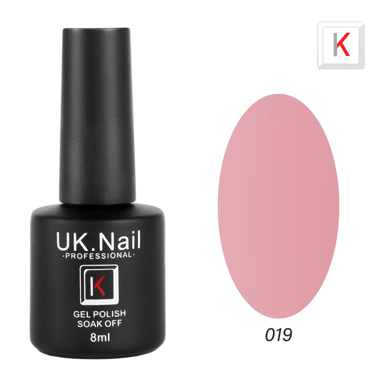 Гель-лаки UK.Nail 8 мл №19