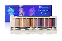 Палетка теней 12 цветов Enhancing Bright Blue Eyes BH Cosmetics Оригинал