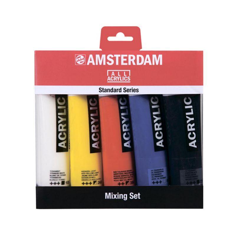 Набор акриловых красок, AMSTERDAM STANDARD, MIXING SET, 5*120 мл, Royal Talens