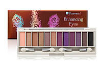Палетка теней 12 цветов Enhancing Beautiful Brown Eyes BH Cosmetics Оригинал