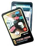 Набір Для Покеру на 100 фішок в Металевому Боксі, фото 2