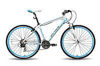 "Велосипед 28'' PRIDE CROSS lady рама - 17"" бело-синий матовый 2015"