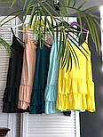 Жіноче літнє плаття/сарафан з рюшами, в кольорах (джинсовий пояс окремо в продажу), фото 4