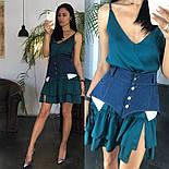 Жіноче літнє плаття/сарафан з рюшами, в кольорах (джинсовий пояс окремо в продажу), фото 7