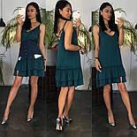 Жіноче літнє плаття/сарафан з рюшами, в кольорах (джинсовий пояс окремо в продажу), фото 6