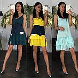 Жіноче літнє плаття/сарафан з рюшами, в кольорах (джинсовий пояс окремо в продажу), фото 8