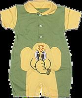 Песочник-футболка с воротником поло, с вышивкой, хлопок (кулир), ТМ Лио, р. 74, 80, 86, Украина