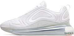 Женские кроссовки Nike Wmns Air Max 720 (White / White - Metallic Platinum)