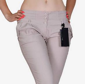 Бежевые брюки стрейч (W031-3) | 6 шт., фото 2