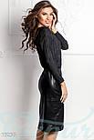 Кожаная юбка-карандаш с разрезом спереди черная, фото 2