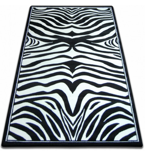 Ковер FOCUS - 9032 140x190 см зебра белый черный