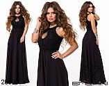 Вечернее платье макси в пол длинное размеры 42-46 , фото 4