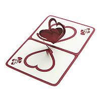 Обьемная открытка - трансформер Сердца