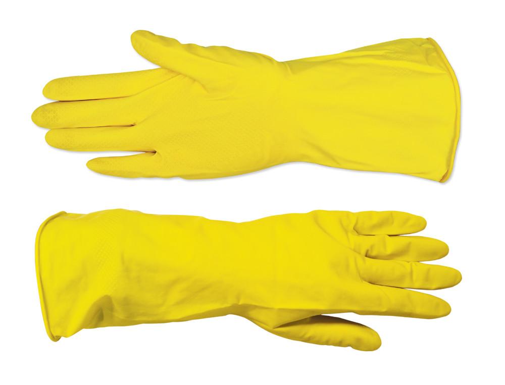 Рукавички господарські Technics латексні жовті M (16-101)