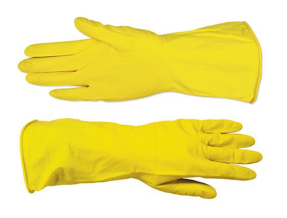 Рукавички господарські Technics латексні жовті M (16-101), фото 2