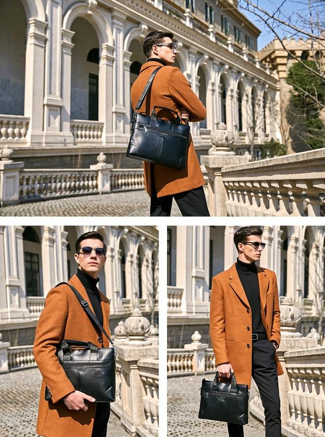 Мужской портфель-сумка Polo Vicuna V6602 черный