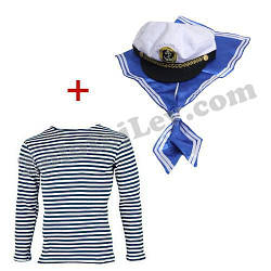 Дитячий набір Моряка тільник, шапка, гюйс