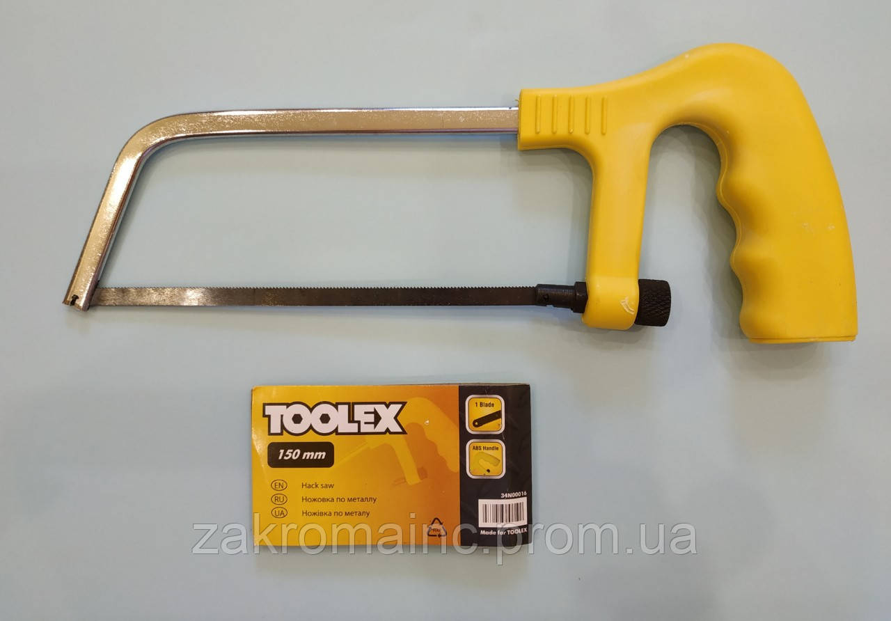 Ножовка по металлу 150мм полотно-лезвие 6мм. TOOLEX