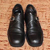 Туфли мужские черные с пряжкой Hidecon р.44