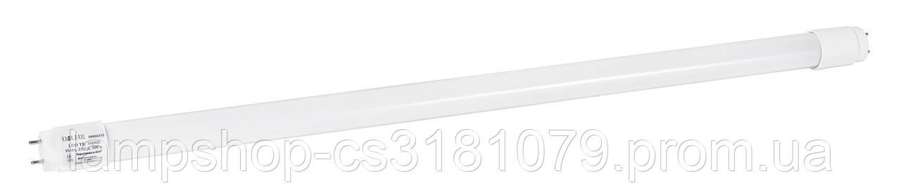 Лампа светодиодная DELUX FLE-002 18 Вт T8 4000K 220В G13 стекло белый