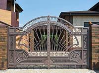 Кованые Ворота распашные с ковкой и элементами ВРБ-06