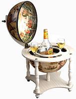 Глобус бар настольный, деревянный Винтаж