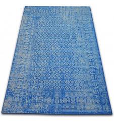 Ковер Лущув Vintage 140x200 см голубой прямоугольный (B133)