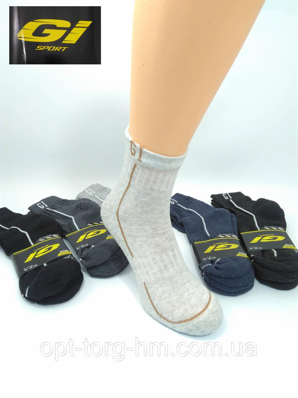 """Стопа махровая """"GI SPORT"""". Спортивные полумахровые мужские носки  39-42(ОБУВЬ)"""