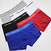 Мужские трусы боксеры транки шорты на узкой резинке в брендовой подарочной упаковке модель 365 3 шт хлопок, фото 3