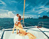 Картина по номерам Поцелуй на море