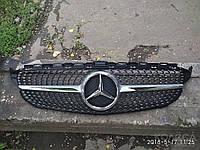 Решетка радиатора Mercedes C-Class W205 Diamond Style Silver, фото 1