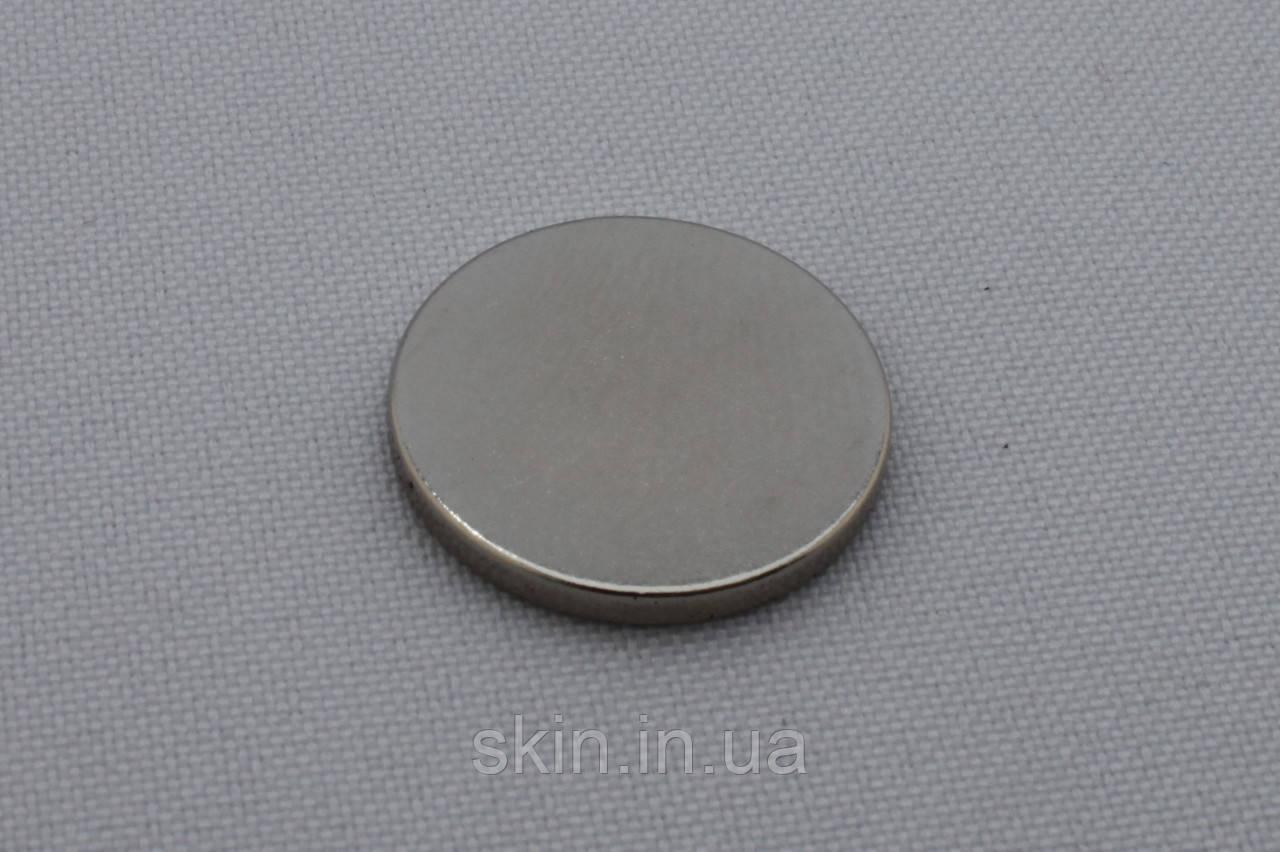 Неодимовый магнит, диаметр - 20 мм, толщина - 2.0 мм, артикул СК 5066