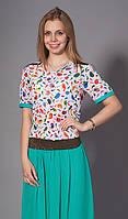 Женская блуза шифоновая с принтом. Код модели Л-33-32-15.