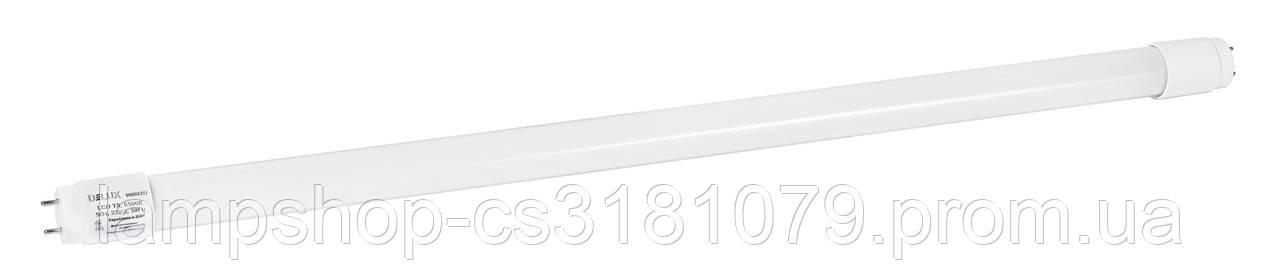 Лампа светодиодная DELUX FLE-002 9 Вт T8 6500K 220В G13 стекло холодный белый