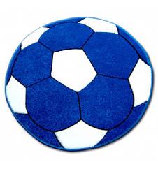 Ковер детский HAPPY  120 см - круглый мяч голубой