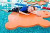 Матрас для плавания (плот, мат для плавания) EVA-LINE Черепаха 950*900*30 мм оранжевый, фото 4