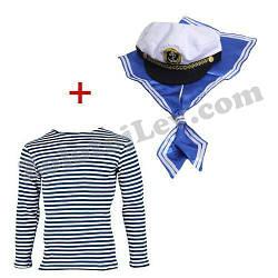 Набір Моряка гюйс, шапка, тільняшка дитяча 7 - 14 років