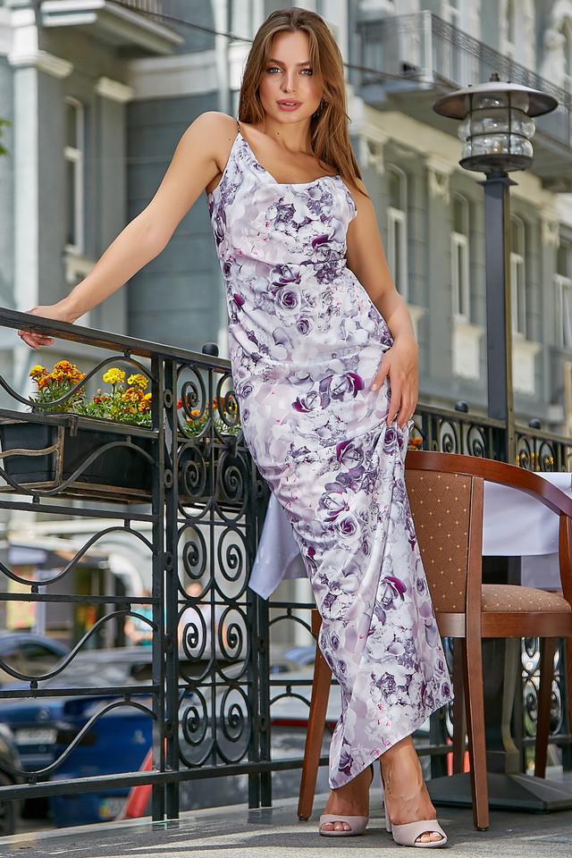 Женское нарядное летнее платье, с цветочным принтом, праздничное, молодёжное, вечернее, элегантное, макси