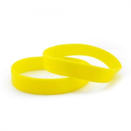 Браслет силиконовый (желтый)