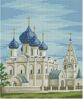 Набор для вышивания крестиком Суздаль - Храмы. Размер: 18,5*22 см