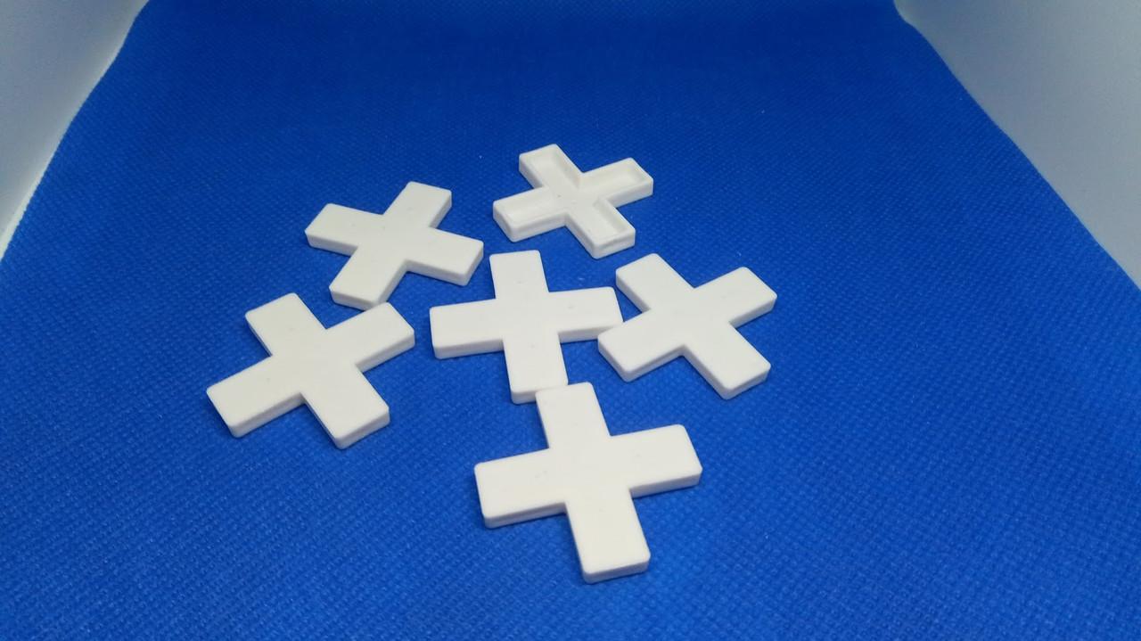 """Крестик для клинкеру белый """"NEW"""" 8 мм (100 шт/пачк)"""
