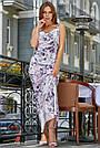 Женское нарядное летнее платье, с цветочным принтом, праздничное, молодёжное, вечернее, элегантное, макси, фото 2